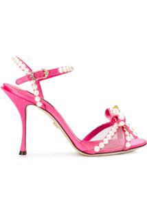 Dolce & Gabbana Sandália Com Salto 105Mm - Rosa
