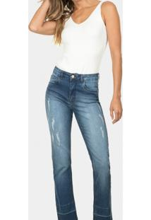 Calça Tulum Reta Elastic Jeans - Lez A Lez