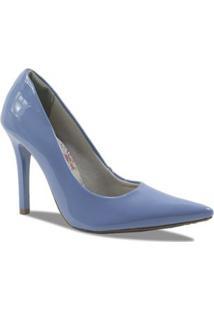 Scarpin Via Marte Verniz - Feminino-Azul