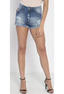 Short Jeans Destroyed - Azul- My Favorite Thingsmy Favorite Things