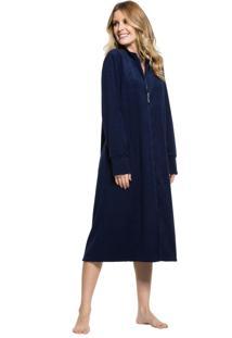 Robe Inspirate Plush Buckle Com Zíper Azul Marinho