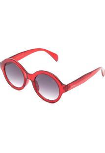 597d829e5325e R  99,90. Kanui Óculos De Sol Opera Rock Transparente Vermelho