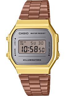 Relógio Digital Casio Unissex A168Wecm5Df Rosê