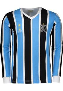 Camisa Grêmio Retrô 1983 Manga Longa Masculina - Masculino