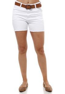 Bermuda Jeans Feminina Zune Branco