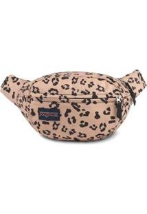 Pochete Jansport Fifth Avenue - Feminino-Bege+Preto