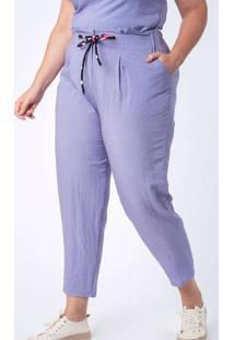 Calça Almaria Plus Size Munny Lisa Mônaco Roxo