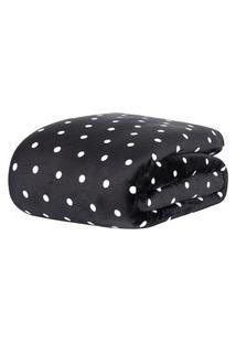 Cobertor Manta Blanket Casal 300G Vintage Preta - Kacyumara