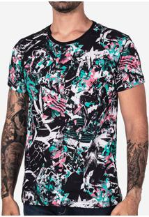 Camiseta Abstract Preto 101732