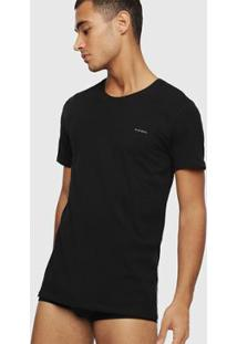 Camiseta Diesel Umtee-Randal Masculina - Masculino-Preto