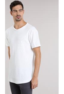 """Camiseta Longa Com Estampa """"Rising Prosperity"""" Off White"""