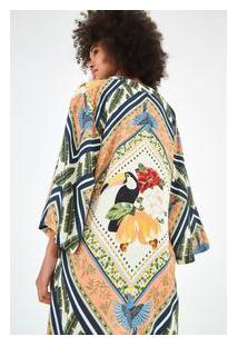 Kimono Lenco Bahia E - Est Lenco Bahia_Multicolorido - U