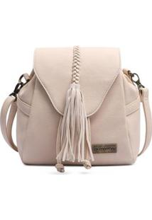 Bolsa Saco Com Cordão Mormaii Feminina - Feminino-Off White