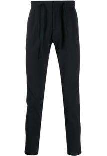 Entre Amis Tapered Drawstring Trousers - Azul