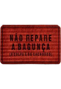 Capacho Carpet Não Repare A Bagunça Vermelho Único Love Decor