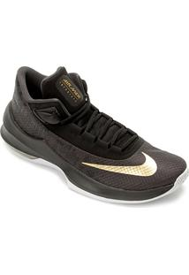 Tênis Nike Air Max Infuriate 2 Mid Masculino - Masculino-Preto+Dourado