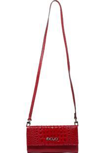 Bolsa Carteira Em Couro Recuo Fashion Bag Vermelho - Vermelho - Feminino - Dafiti
