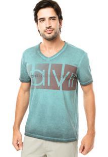 Camiseta Calvin Klein Jeans Silk Verde
