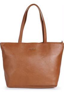 Bolsa Shopping Bag Via Uno Caramelo Caramelo