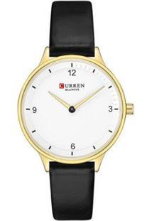 Relógio Curren Analógico C9039L Feminino - Feminino-Dourado+Preto