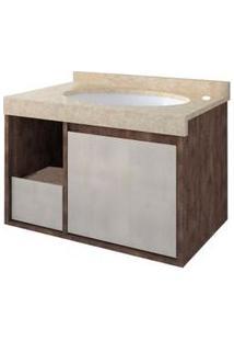Gabinete De Banheiro Drop Sem Cuba 62X40,8Cm Wengue E Rovere Gaam