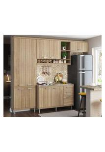 Cozinha Compacta Completa Multimóveis Com 4 Peças Sicília 5840 Argila/Argila