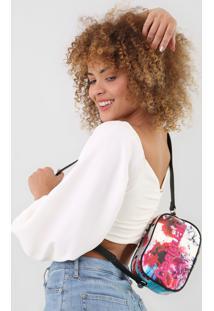 Bolsa Tiracolo Desigual Tinta Color Branca/Vermelho - Rosa - Feminino - Dafiti