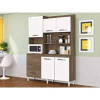10be6c944b4 Cozinha Compacta Mila 5 Pt 3 Gv Dakota E Branco