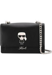 Karl Lagerfeld Bolsa Tiracolo K/Ikonik - Preto