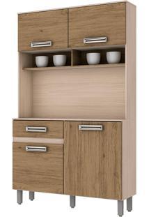 Cozinha Compacta 3 Portas 1050Mm Fendi E Rústico Briz