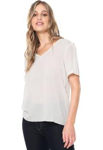 Blusa Ana Hickmann Decote V Off-White