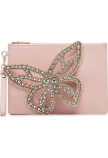 Sophia Webster Bolsa Clutch 'Flossy Butterfly' - Rosa
