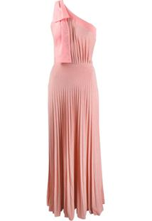 Elisabetta Franchi Vestido Longo Com Pregas - Rosa