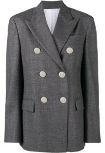 Calvin Klein 205W39Nyc Blazer Com Abotoamento Duplo - Cinza