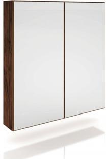 Armário Multiuso Espelhado 2 Portas Com Led Tb81L Dalla Costa Nobre