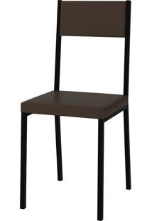 Cadeira Easy Vinil Pc230-Pozza - Cacau / Preto