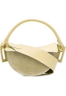 Yuzefi Curved Shape Shoulder Bag - Verde