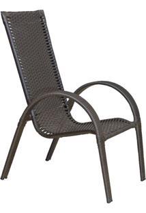 Cadeira De Jardim Valéria Marrom Escuro