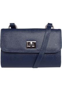 Bolsa Dumond Shoulder Mini Bag Pequena Azul-Marinho