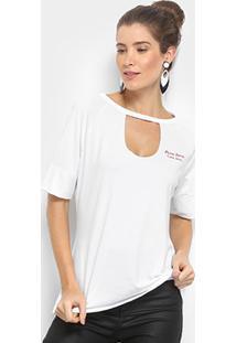 Camiseta Coca-Cola Mescla Recorte Feminina - Feminino