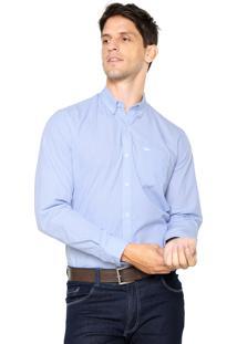 Camisa Lacoste Regular Fit Clássica Azul
