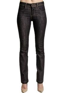 Calça Jeans Reta Calvin Klein Feminina - Feminino-Azul
