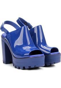 Sandália Tratorada Carmim Feminina - Feminino-Azul