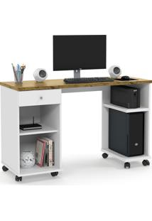 Mesa Computador Million Branco/Nature Patrimar Móveis