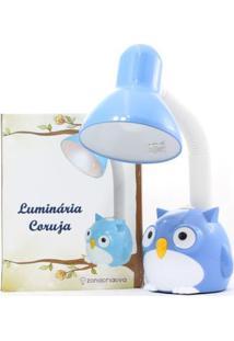 Luminaria Flexivel Coruja Azul