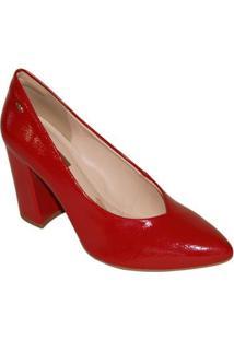 Scarpin Dakota Salto Bloco - Feminino-Vermelho