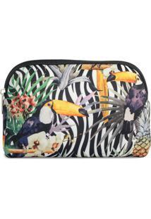 Necessaire Em Neoprene Tritengo - Zebra Tucano Floral - Feminino