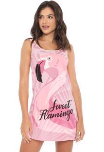 Camisola Malwee Liberta Curta Flamingo Rosa