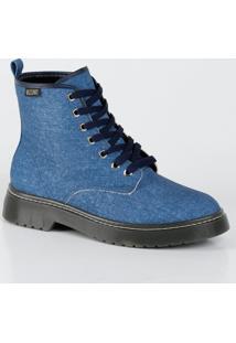 Bota Feminina Coturno Jeans Vizzano 3055101