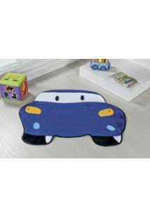 Tapete Formato Premium 78Cmx60Cm Carro Azul Royal Guga Tapetes